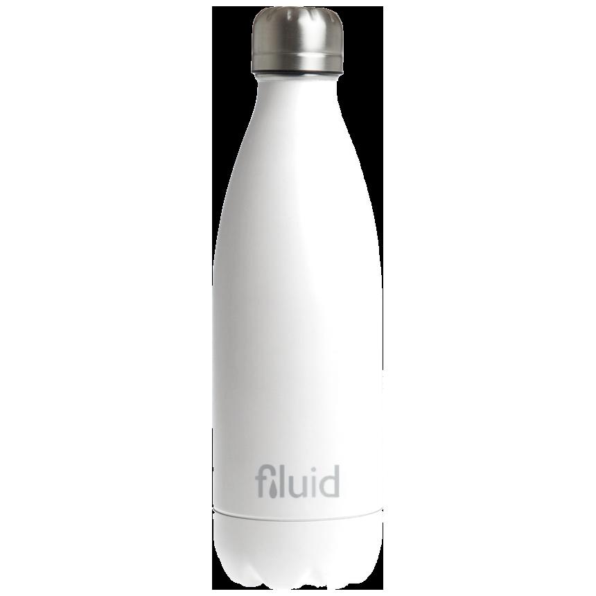 Hvit Farget Fluid Drikkeflaske